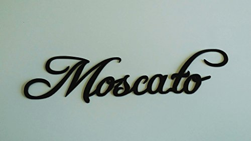 Moscato Wine Word Metal Wall Art Home Kitchen Decor | shopswell