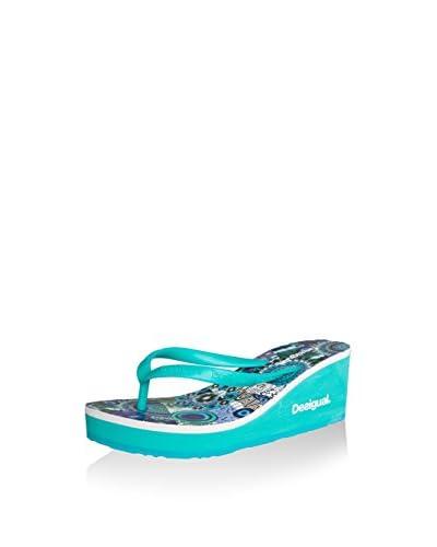 Desigual Sandalo Zeppa Lola [Verde Acqua]