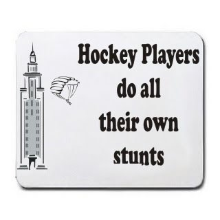 Hockey Players do all their own stunts Mousepad
