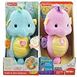 Fisher-Price Ocean Wonders Soothe and Glow Seahorse, 8 Gentle Lullabies, Color: Blue