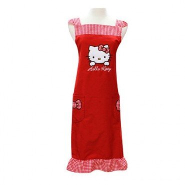 Sanrio Hello Kitty Cooking Craft Apron Adult Rare Face RED
