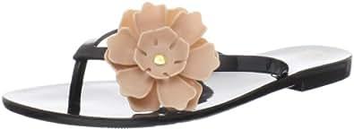 Melissa Women's Harmonic Sandal,Black Beige Flower,6 M US