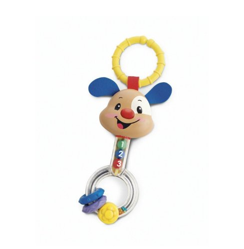 Fisher-Price Puppy Dumbbell Rattle front-110728