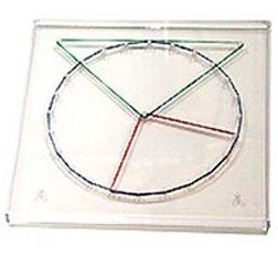 "Transparent Circular Geoboard (5.5"" diameter) - 1"