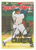 Miguel Cabrera Florida Marlins 2005 Topps Autographed Hand Signed Trading Card -... by Hall+of+Fame+Memorabilia