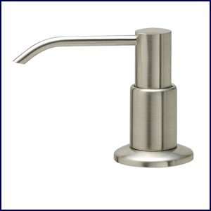 Brushed Nickel Lotion or Soap Pump Dispenser - Kitchen or Bathroom