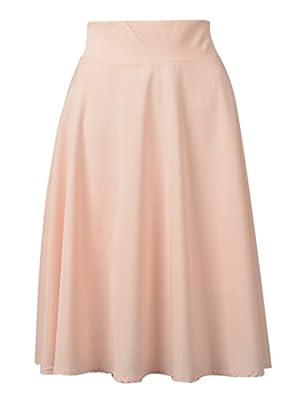 Choies Women's Polyester Pink High Waist Trumpet Midi Skirt