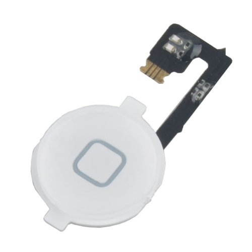 Neewer® White Home Button With Flex Cable Replacement For Iphone 4 4G front-614182