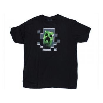 Jinx Minecraft T-Shirt Creeper Inside Men's Black T-shirt X-Large