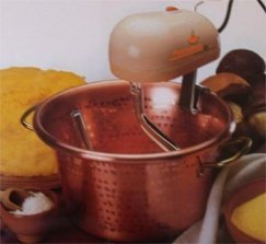 Electric Polenta and Risotto Cooker , Classical Hammered Copper Pot in Traditional Italian Form (30cm 12