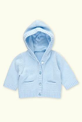 Petit Bebe Pure Cotton Hooded Matinee Cardigan [T78-5804B-Z]