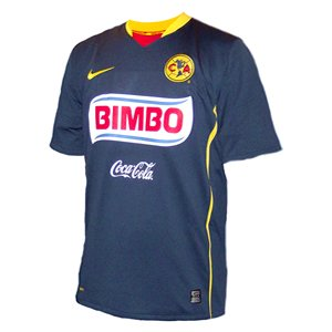 Nike Club America Away Jersey 2008-09 (Large/Adult, NAVY/451)