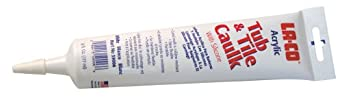 LA-CO Acrylic Latex Caulk with Silicone, 6 oz Squeeze Tube, White (Pack of 1)