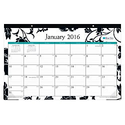 Blue Sky 2016 Barcelona Monthly Desk Pad 17x11