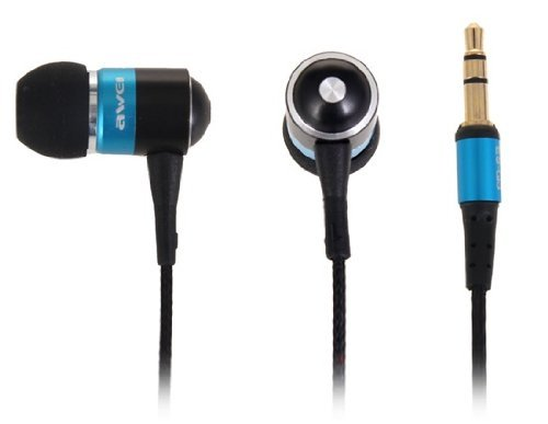 Awei® Es-Q3 In-Ear Noise Isolation With Precise Bass 3.5Mm Plug Earphone For Iphone 4/4S/5/5S Ipod Mp3 Mp4 Samsung Htc (Blue)