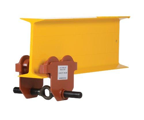 Vestil E-MT-1 Steel Push Low Profile Eye Manual Trolley, 1000 lbs Capacity, 2