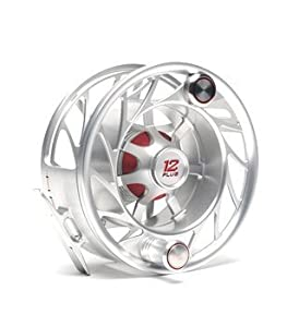 New Hatch 12 Plus Finatic Fly Fishing Reel Clear Red by Hatch