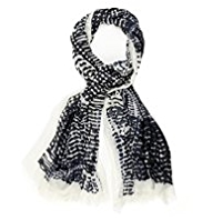 Autograph Pure Modal Lightweight Abstract Dotted Scarf