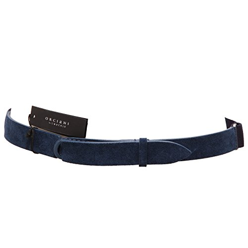 3657Q cintura donna ORCIANI NOBUCKLE blu regolabile adjustable belt woman [Taglia unica]