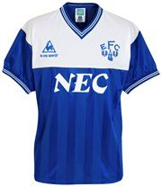 Everton 1986 Shirt - Blue/White - Small