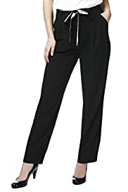 Contrast Tie Slim Leg Trousers
