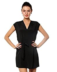 XnY Women's Belted Shift Dress (DR 1020028_Black_16)