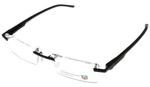 Tag Heuer Prescription Frame Unisex Rimless Black White Automatic Th0843 011