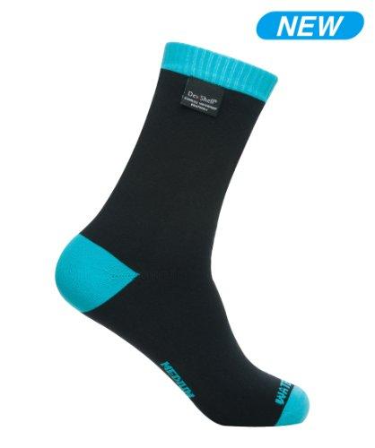Dexshell Coolvent Lite Waterproof Socks (Aqua Blue) (Large (USA 9.5-12))