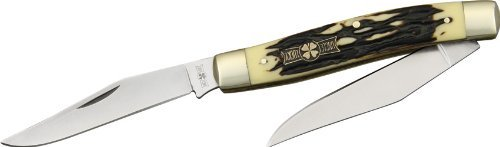 Frost Cutlery & Knives Ul555Is Uncle Lucky Series - Muskrat Pocket Knife With Imitation Stag Handles