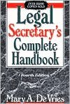 img - for Legal Secretary's Complete Handbook book / textbook / text book