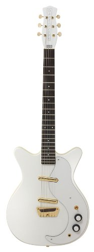 Danelectro DC-59 DC 50th Anniversary- White W/ Gold Hardware Limited Edition 6-String Electric Guitar