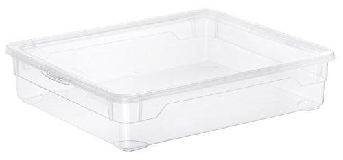 Aufbewahrungsbox-Clear-Box-Shirt-9-L-von-Rotho-mit-Deckel-QR-Code-AppMyBox-9-L-Volumen-LxBxH-40x335x85-cm-transparent-stapelbar-KunststoffPlastik-PP-Div-Gren