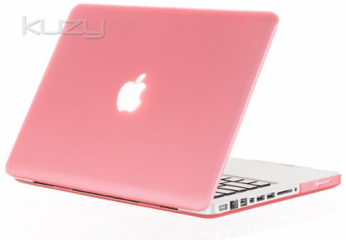 #>>  Kuzy - PINK Rubberized 13-inch Hard Case Cover See Thru for MacBook Pro 13.3