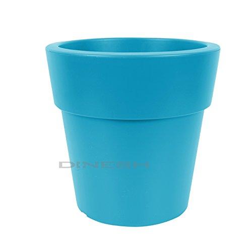 (777) Kunststoff Pflanzkübel Petrol-Blau Blumenkübel Pflanzenkübel Blumentopf winterfest