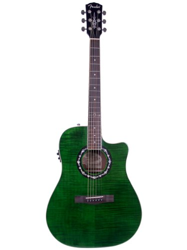 Fender T-Bucket 300Ce Dreadnought Cutaway Flame Maple Acoustic-Electric Guitar - Green