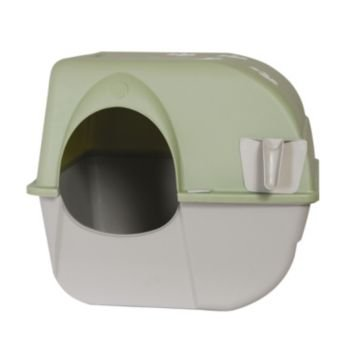 Omega Paw Self-cleaning Litter Box Regular Taupe by Omega Paw