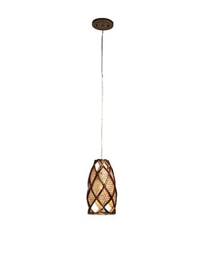 Varaluz Argyle 1-Light Mini Pendant, New Bronze/Desert Pearl