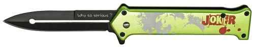 """JOKER """"WHY SO SERIOUS?"""" FOLDING KNIFE - GREEN"""