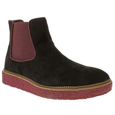 hush puppies crepe wedge boot 9 uk black suede