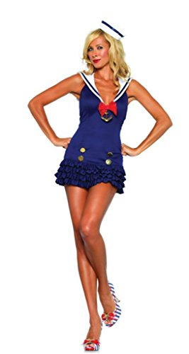 Leg Avenue Womens Sweetheart Sailor Fairytale Outfit Fancy Dress Sexy Costume