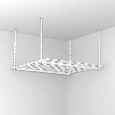 HyLoft 00540 45-Inch-by-45-Inch Overhead Storage System, White