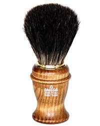 Omega 100% Pure Badger Shaving Brush with Ash Handle - #6191