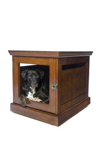 Trend DenHaus TownHaus Indoor Dog House and End Table Mahogany Medium