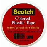 "3M 191CL Scotch 1-1/2"" x 125"" Colored Plastic Tape, Clear"