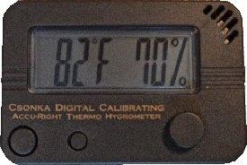 NEW Csonka Digital Calibrating Accu-Right Thermo Hygrometer GreyB0001I1J8I : image