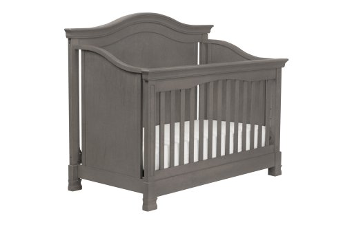 Million Dollar Baby Louis 4-in-1 Convertible Crib with Toddler Rail, Manor Grey - 1