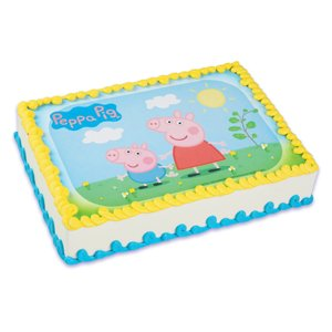 Whimsical Practicality Peppa Pig Edible Image Cake Topper - 1