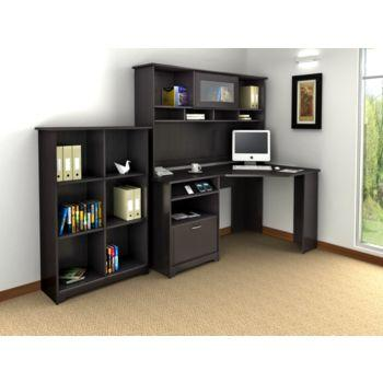 Cabot Collection 6-Cube Bookcase in Espresso Oak