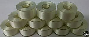 1 Gross/ 144 Prewound Plastic Sided Machine Embroidery Bobbins Size A/style 15/sa156