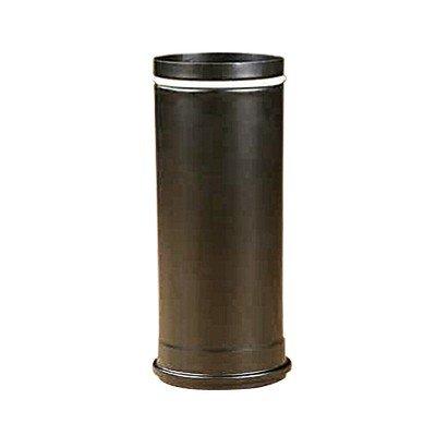 Rauchrohr, Ofenrohr Pellet-Rohr 0,25m schwarz-matt 100 ø 0,6mm stark
